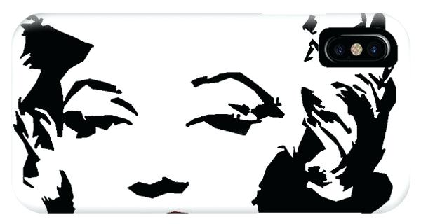 600x320 Marilyn Monroe Black And White Silhouette Watercolor Case In Black