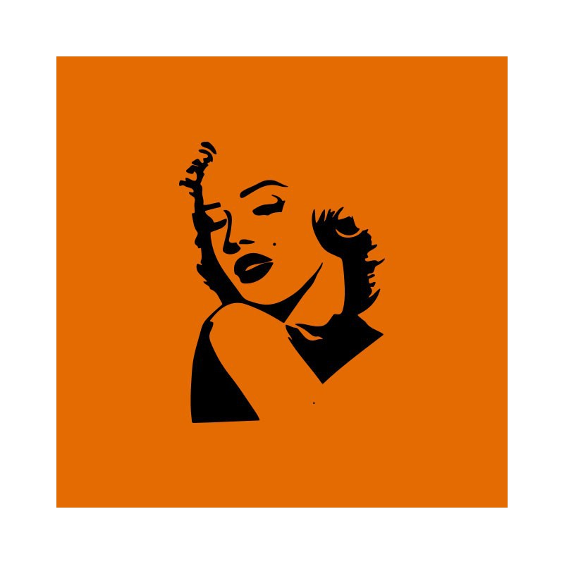 800x800 Shirt Marilyn Monroe Silhouette Orange