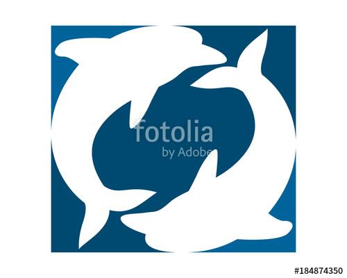 500x400 Dolphin Pisces Silhouette Fish Nautical Marine Life Image Animal
