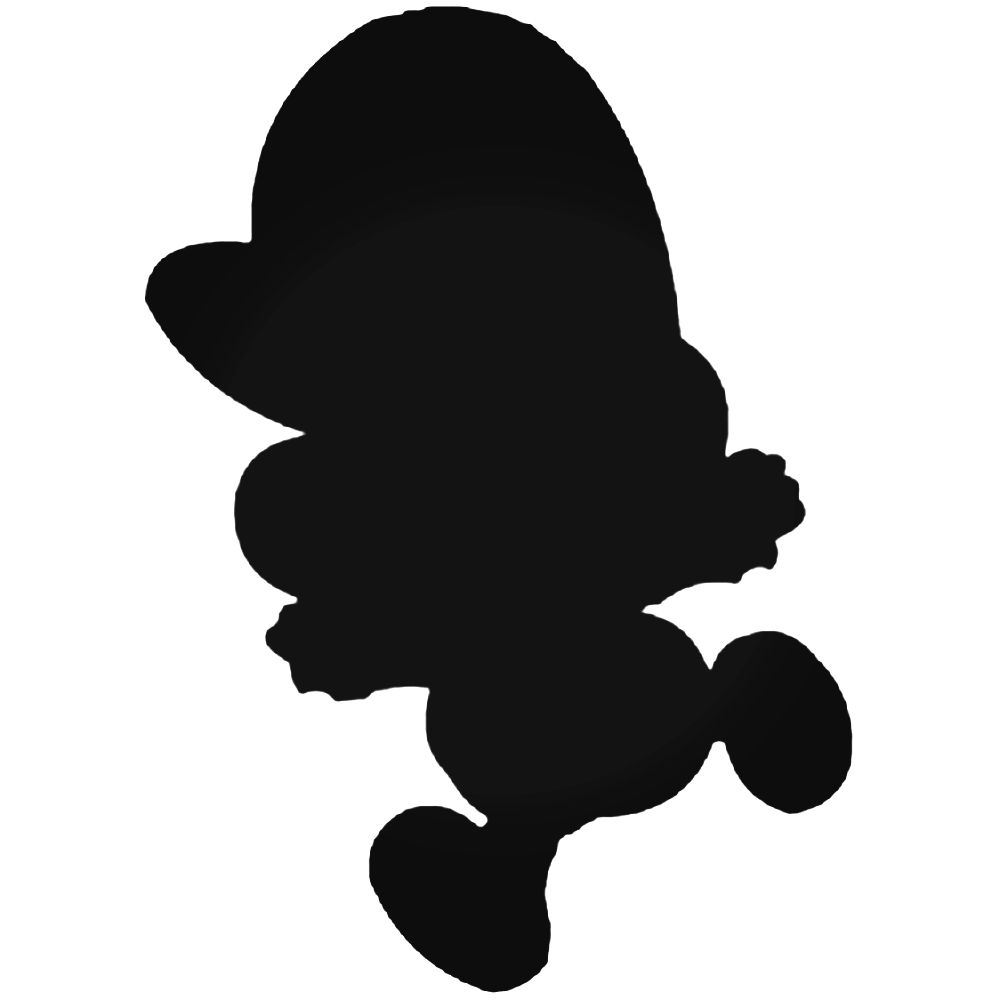 1000x1000 Bros Baby Mario Silhouette Decal