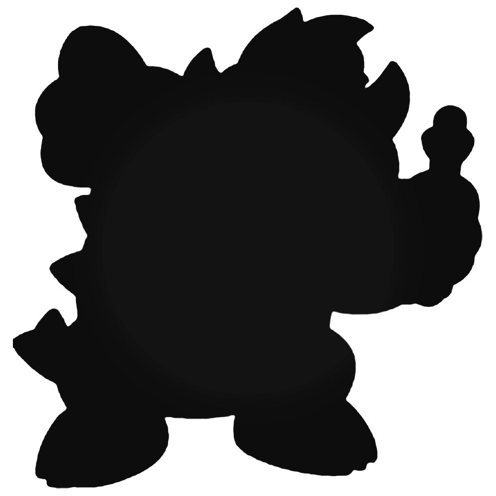 1000x1000 Bros Bowser Silhouette Decal