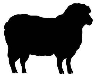 340x270 Sheep Stencil Etsy