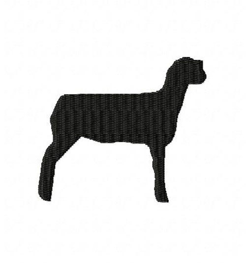500x534 Show Lamb Mini Machine Embroidery Design Made To Match Filled
