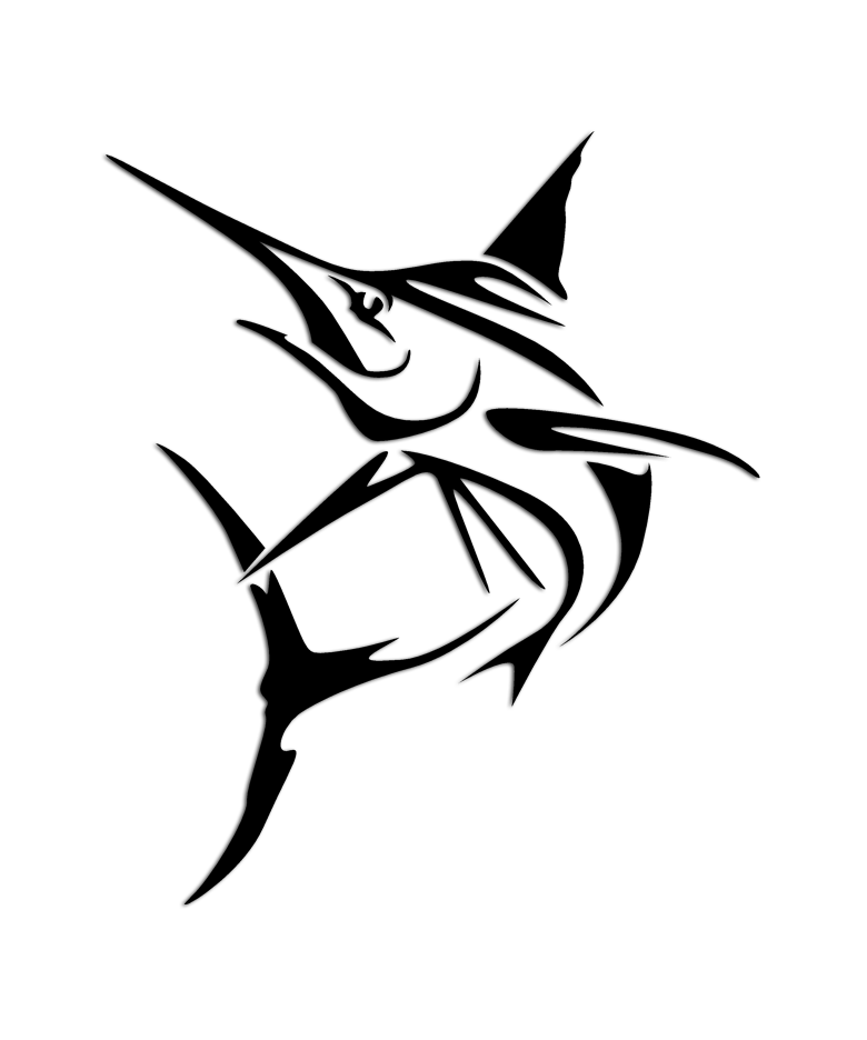 780x936 Marlin Tribal Fishing Sticker Svg File, Silhouettes And Filing