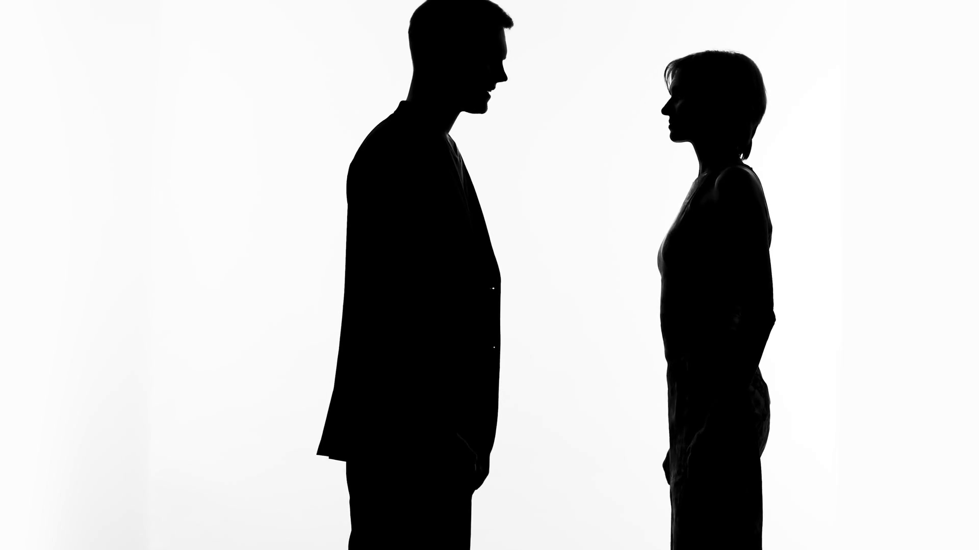 1920x1080 Male Silhouette Making Proposal To Woman, Marriage Offer, Romantic