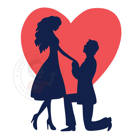 570x570 Marriage Proposal Vector, Love Svg, Love Dxf, Love Clipart, Love