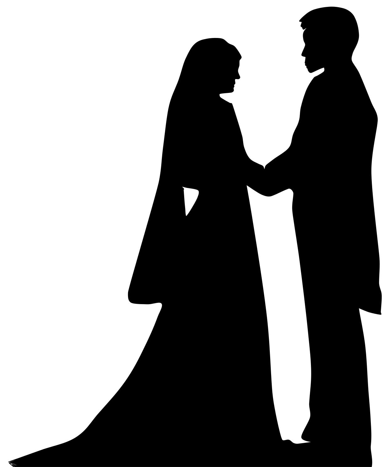 1243x1488 Marriage Silhouette Clipart
