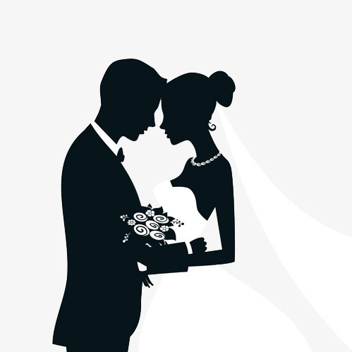 499x499 Silhouette Marriage, Black, Sketch, Marry Png Image And Clipart