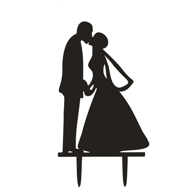 640x640 Wedding Cake Topper Kissing Couple Silhouette Cake Topper Cake