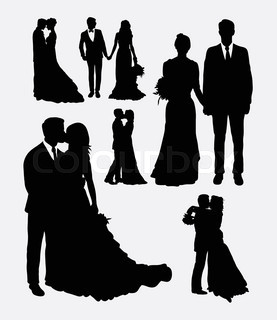 277x320 Wedding Silhouette Set Vector Stock Vector Colourbox