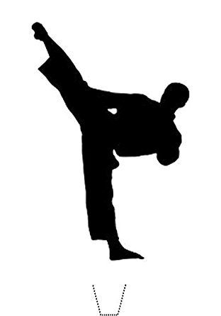 312x445 12 X Novelty Karate Taekwondo Martial Arts Silhouette Edible
