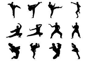 286x200 Martial Arts Silhouettes Set