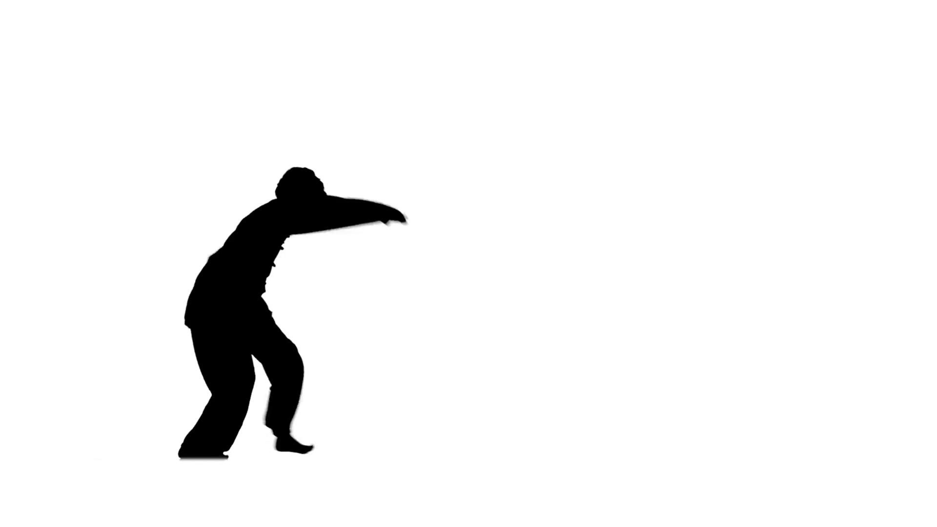 1920x1080 Man Training Taekwondo Or Karate, Silhouette, Slow Motion Motion