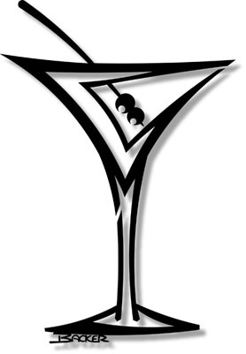 Martini Glass Silhouette