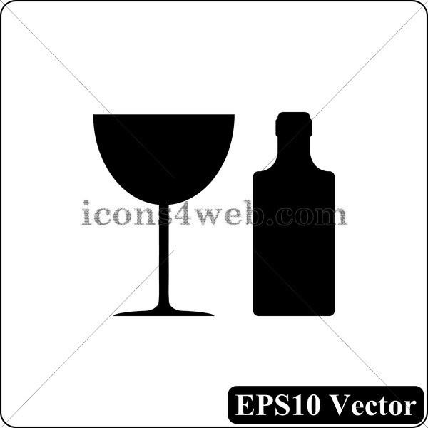 600x600 Martini Glass Vector Icon. Martini Glass Vector Button. Eps10