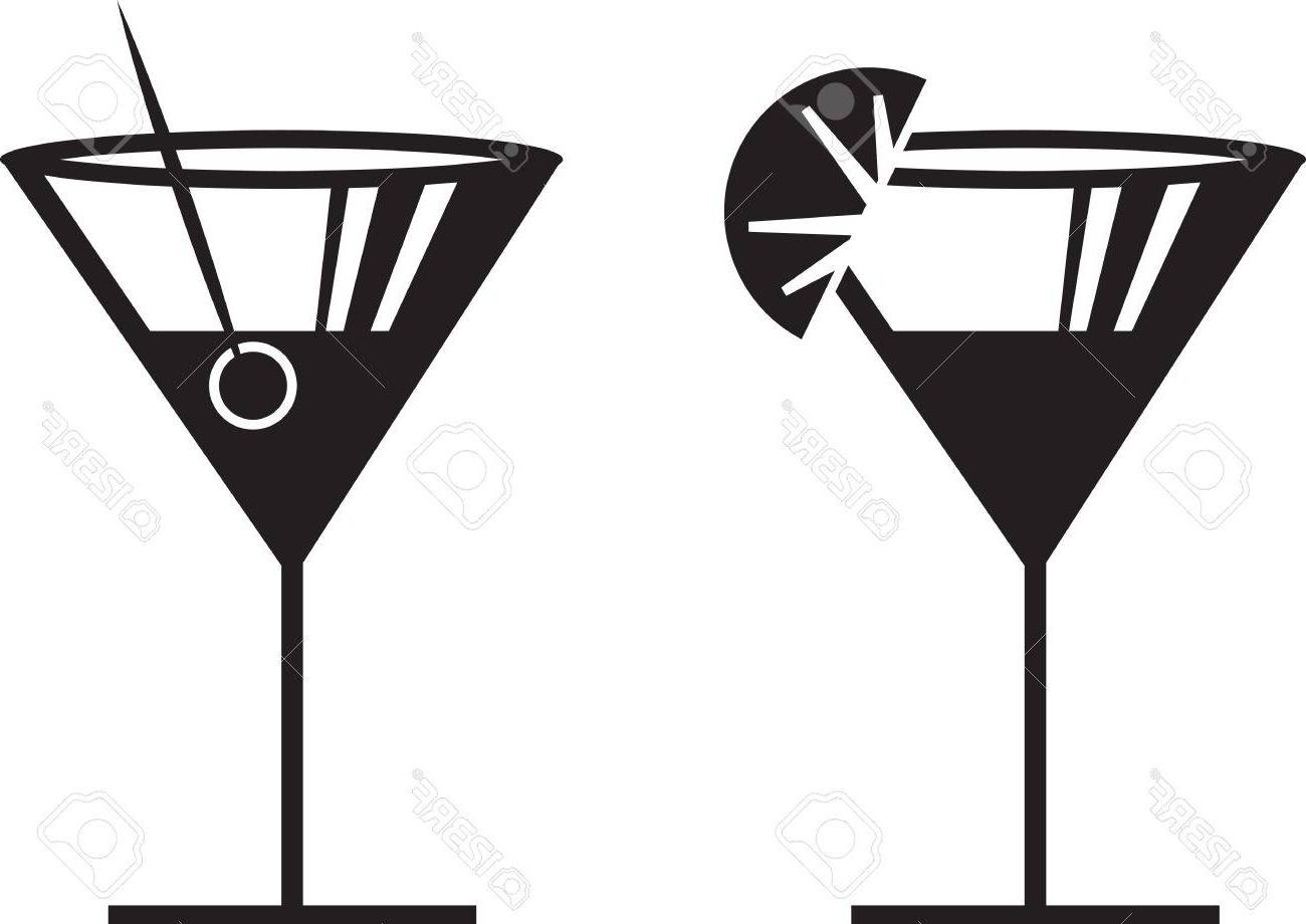 1300x920 Best Margarita Or Martini Silhouettes With Garnish Cdr