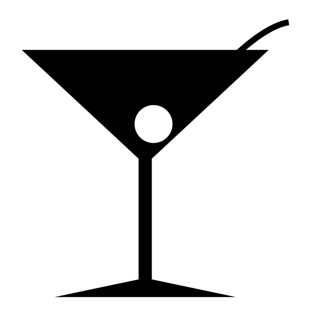 640x640 Cocktails Bars Liquor Free Icon Mark Illustration