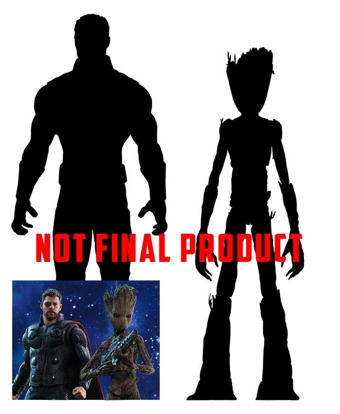 700x852 Avengers Infinity War Marvel Select Action Figures Thor Amp Groot 18
