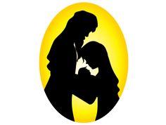 236x178 Mary, Joseph And Baby Jesus Silhouette Baby Jesus, Nativity