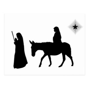307x307 Jesus Silhouette Postcards Zazzle