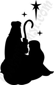 181x288 Christmas Joseph Mary Silhouette Mvd Christmas Ideas