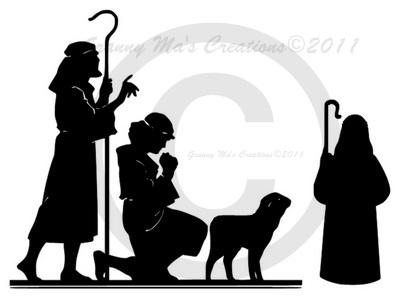 400x298 Granny Ma's Creations Last Nativity Silhouette