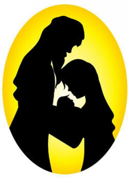 518x714 Mary And Joseph Silhouette Clip Art