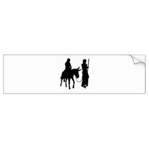 307x307 Mary Joseph And Jesus Bumper Stickers