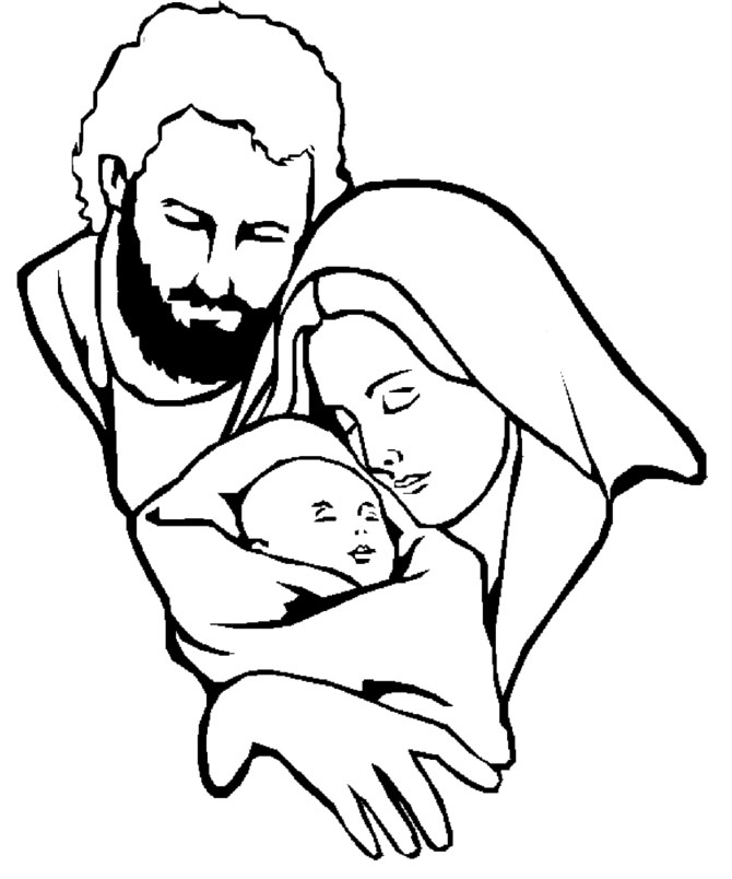670x804 Mary Joseph And Jesus Clipart