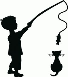 236x267 Little Boy With A Frog Silhouette One Of My Earliest Decorative