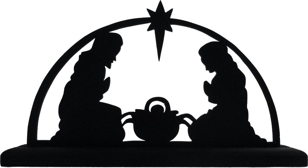 1000x545 Nativity Clipart Silhouette Faces