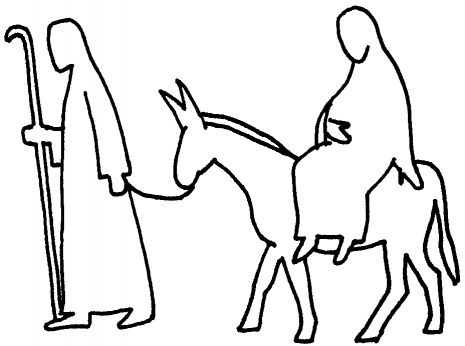 465x346 Advent Mary And Joseph And Donkey Coloring Page Christmas