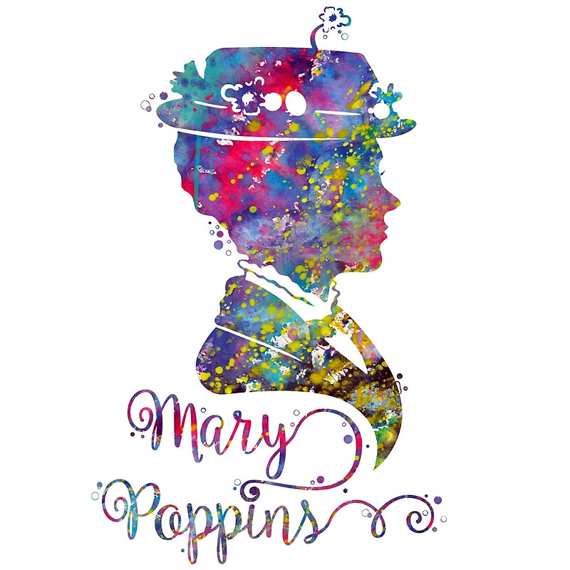 800x800 Mary Poppins Bag Clipart