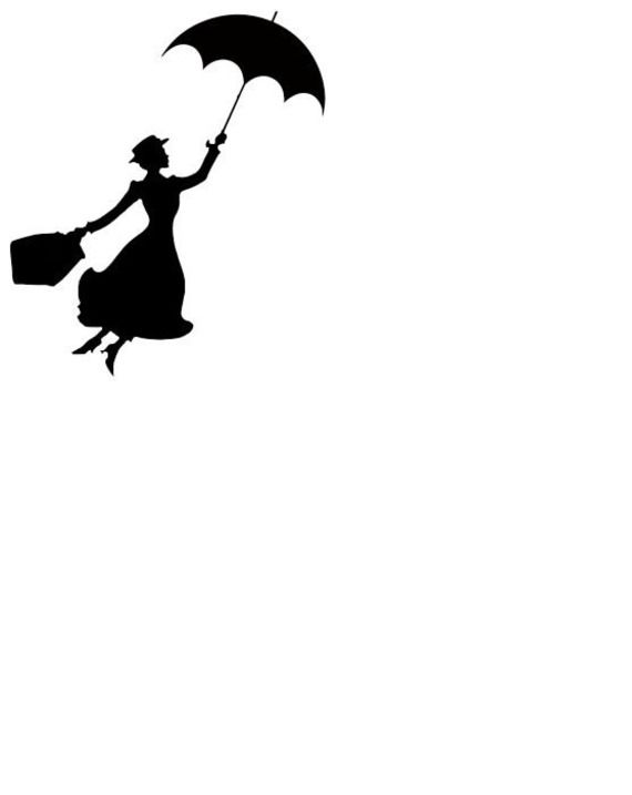 570x717 Mary Poppins Clipart Black And White