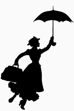 236x354 12 Mary Poppins Silhouette Clipart Images, Clipart Design Elements