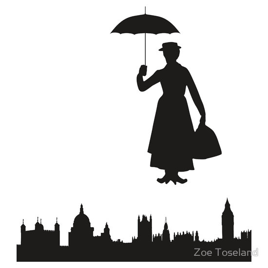 550x550 Mary Poppins Silhouette. Aces Mary Poppins