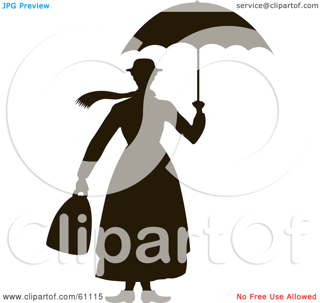 1080x1024 Mary Poppins Silhouette Free Clipart