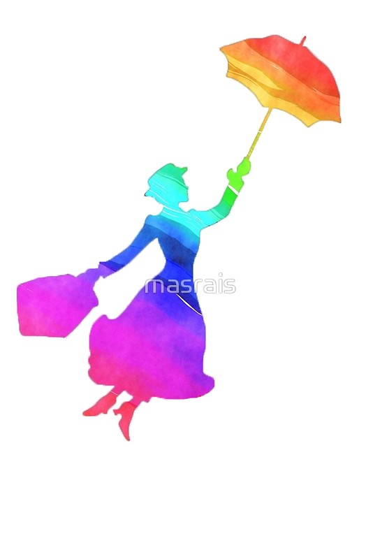 534x800 Colorful Mary Poppins Silhouette Posters By Masrais Redbubble