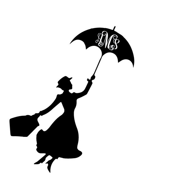 599x599 Mary Poppins Decal Mary Poppins Sticker Mary Poppins Umbrella