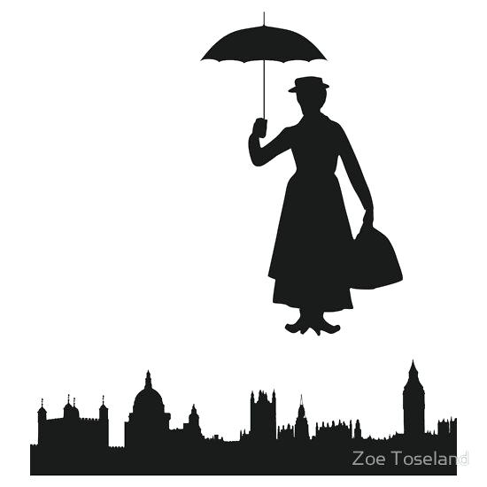 550x550 Mary Poppins Silhouette Mary Poppins Silhouette Svg