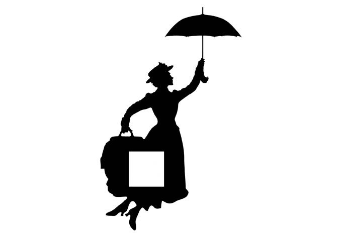 680x472 Mary Poppins Wall Sticker