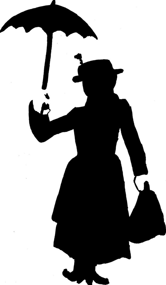 683x1171 Mary Poppins Silhouette By Brickwallsam