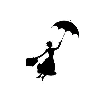 354x354 Mary Poppins Silhouette Stamp Birthday From Stampitworldwide