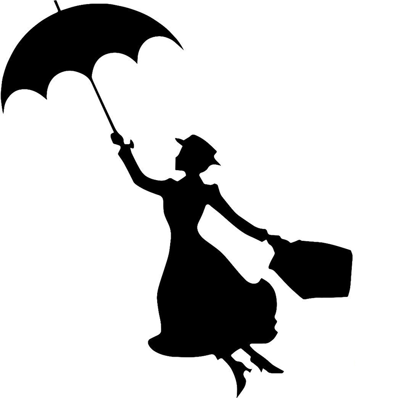 800x800 58cm X 50.27cm 2 X Mary Poppins Funny Graphical (One For Each Side