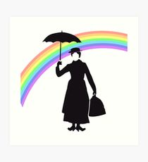 210x230 Mary Poppins Silhouette Art Prints Redbubble