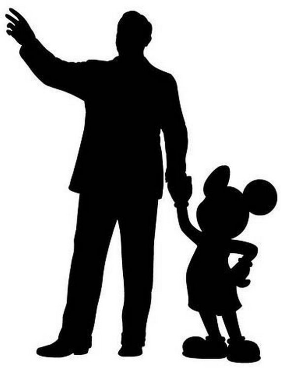 570x748 Mary Poppins And Mickey Mouse Silhouette By Elmarcosluckydel96
