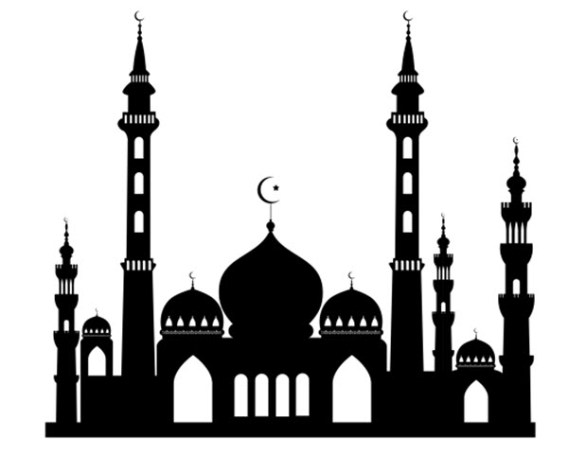 567x454 Freebie Mosque Silhouette Mosque, Silhouette And Eid