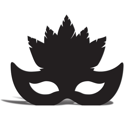 450x450 Feather Mask Silhouette Masquerade Ball Feather
