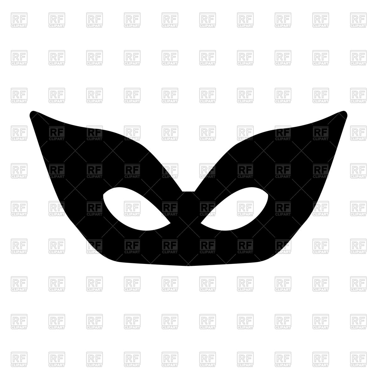 1200x1200 Mask Silhouette On White Background Royalty Free Vector Clip Art