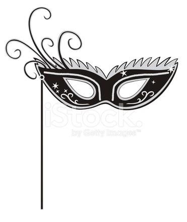 371x440 Masquerade Mask Stock Vector
